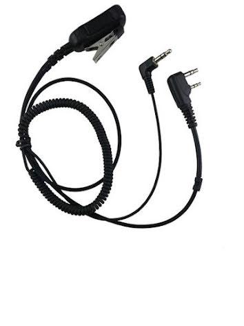 Kabel Hörselskydd 3,5mm.PTT-PJV-ProJakt/ProKom Vinklad 2,5+3,5mm 3-pol.Pro-Kom/ 3,5mm kåpa