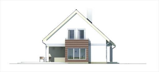 Ada wersja A z pojedynczym garażem - Elewacja lewa