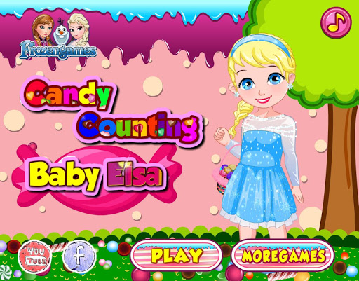 Baby Frozen Candy Counting