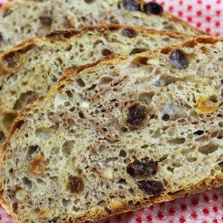 No Knead Fruit & Nut Bread
