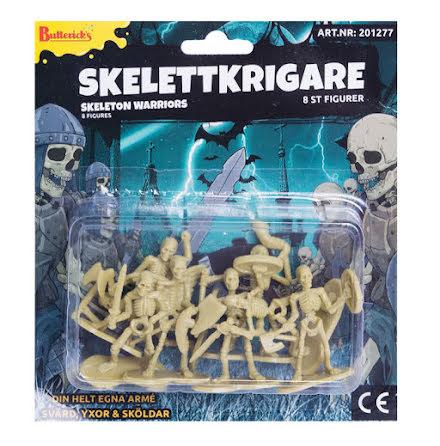 Skelettkrigare figurer 8 st