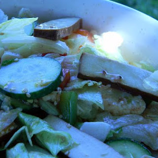 Baked Tofu Warm Salad