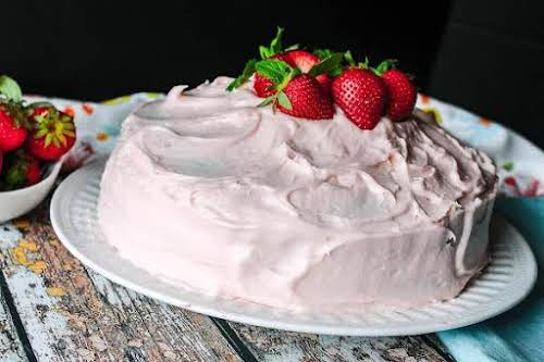 "Strawberry Marble Cake""I love strawberries and I love cake so I decided..."