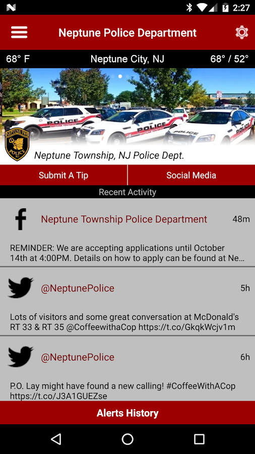 Neptune Township PD- screenshot