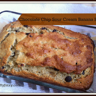Chocolate Chip Sour Cream Banana Bread
