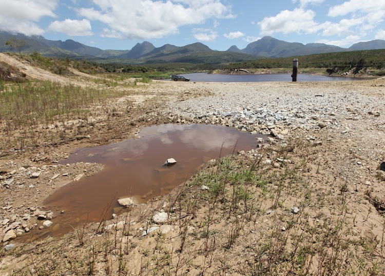 A drought-affected region is shown in George in the Western Cape.  Picture: SUNDAY TIMES