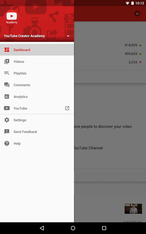 YouTube Creator Studio- screenshot