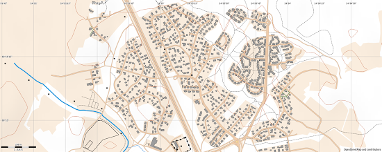 Photo: Creating a street-O map from the OpenStreetmap data with Maperitive