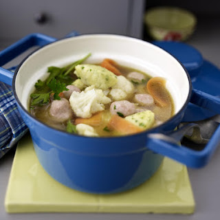 Chicken and Vegetable Soup with Dumplings