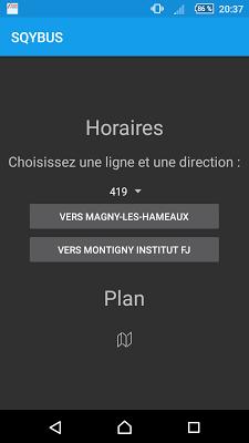 SQYBUS Horaires - screenshot