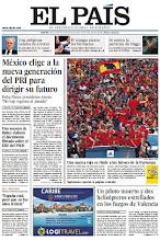 Photo: Una asesora de Báñez filtró el documento de los ERE, victoria del PRI en México, la fiesta de la selección y una entrevista a Paul Krugman, en la portada de este martes 3 de julio http://srv00.epimg.net/pdf/elpais/1aPagina/2012/07/ep-20120703.pdf