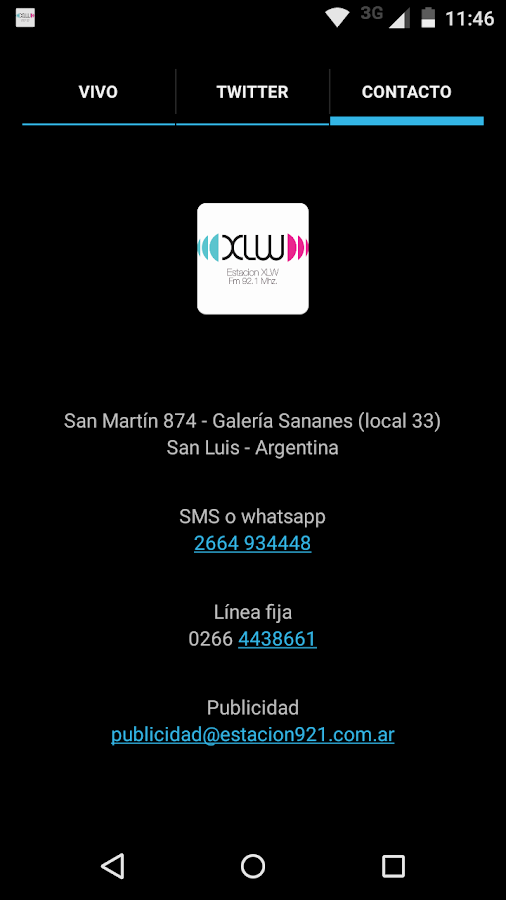 XLW 92.1 San Luis- screenshot