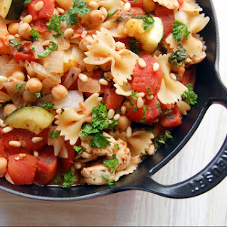 30-Minute Chicken and Chickpea Skillet Pasta.