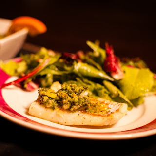 Alaskan Pacific Cod with Orange Mint Sauce