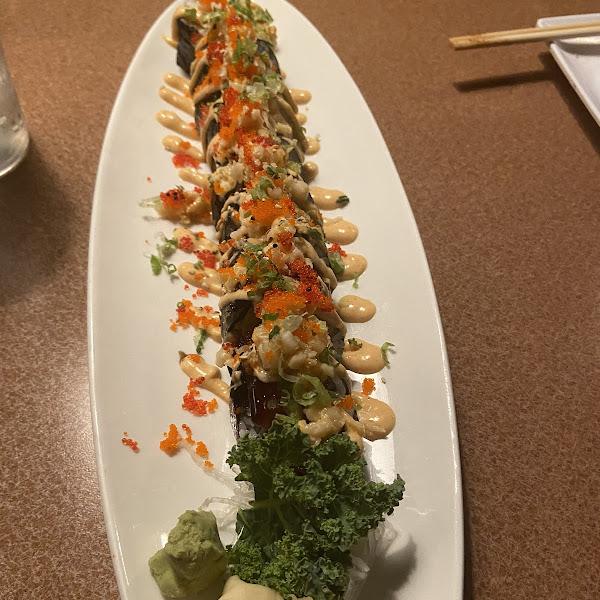 Gluten free sushi roll