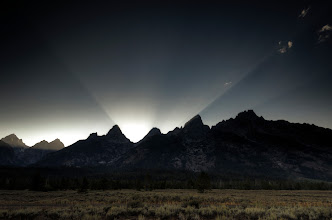 Photo: Hollywood Lights Grand Teton National Park, WY. 2012.  Racing to catch the sunset at Grand Teton National Park.