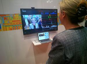 "Photo: Intel's ""emotion-recognition"" (via facial expressions) technology #nrf14 #throughglass"