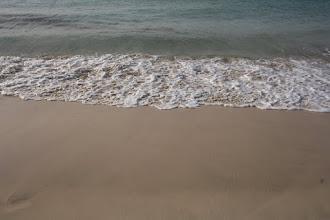 Photo: Det blåser hela tiden på ön vilket ger ibland stora vågor.