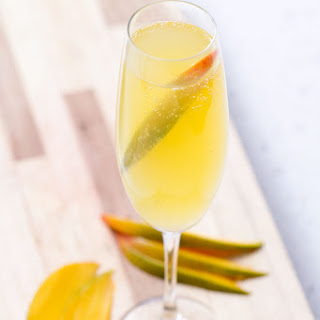Bottoms Up | Sparkling Mango Coconut Cocktail
