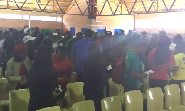 The memorial service for the late Andries Monareng, at the Soshanguve South Campus.