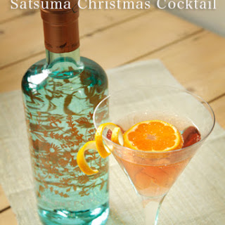 Pomegranate, Elderflower and Satsuma Christmas Cocktail