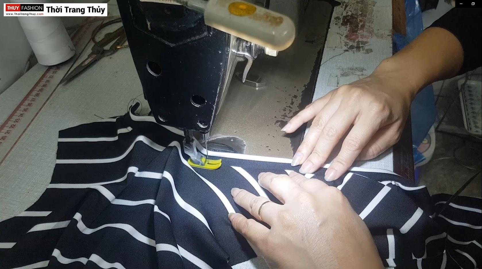 Video Hướng dẫn cách may áo thun nữ vải cotton thời trang thủy ở hải phòng 2