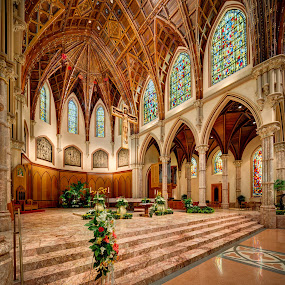 Altar of Holy Name Cathedral by John Williams - Buildings & Architecture Places of Worship ( interior architecture, architectural detail, catholic church, catholic cathedral, places of worship )