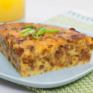 Slow Cooker Hash Brown, Egg & Sausage Casserole.