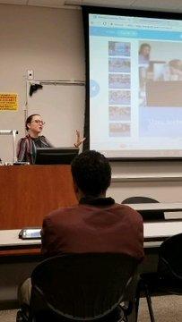 Katelyn teaching at event