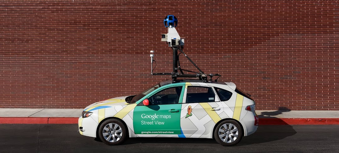 A Google Street View car fitted with air pollution measurement equipment