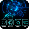 Technologie Neon Blue Theme APK