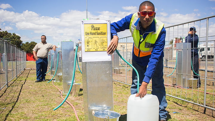 Residents are now required to use less than 50l of water.