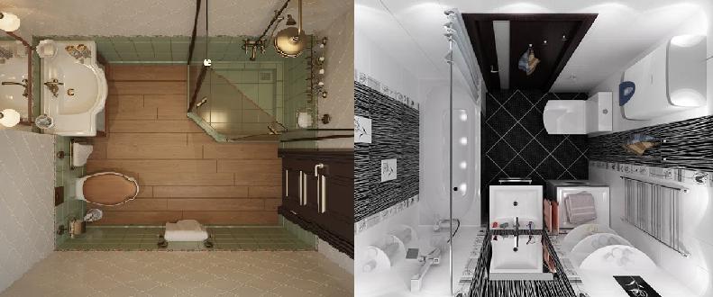 как правильно расположить мебель и сантехнику в компактной ванной комнате