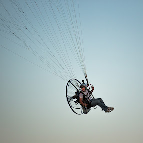 ParaTupper by Jace LeRoy - Transportation Other ( cool, flight, flying, epic, awesome, sunset, paramotor, transportation )