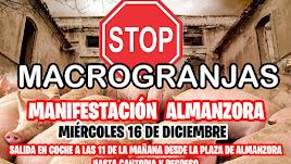 Cartel que anuncia la manifestación que partirá de Almanzora.
