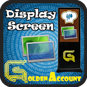 Golden Display Screen