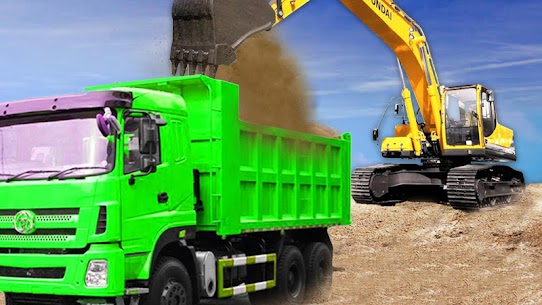 Sand Excavator Truck Driving Rescue Simulator game 9