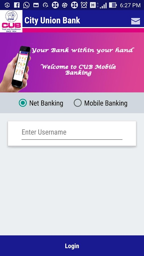 CUB MOBILE BANKING PLUS- screenshot