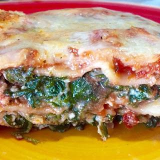 Scrumptious Spinach Lasagna from Alexandersmom.com.