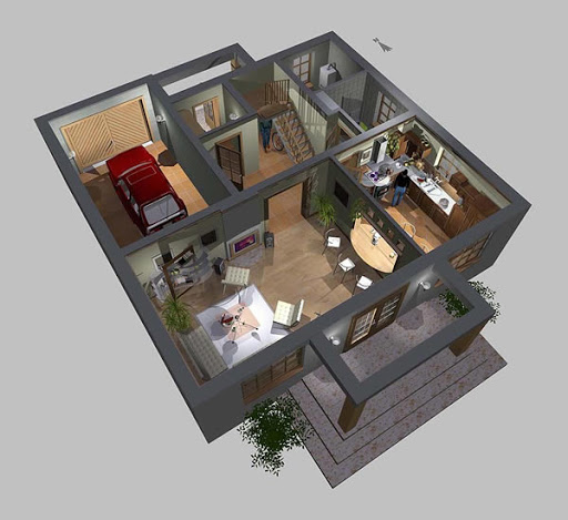 APS 073 - Rzut parteru 3D