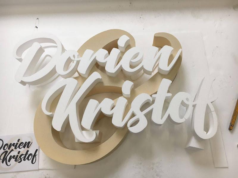 3D letters & logo's uit EPS en XPS - 3D letters huwelijk trouw