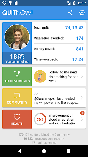 QuitNow! Quit smoking 5.98.0 gameplay | AndroidFC 1