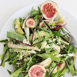 Dandelion Greens Salad with Fresh Figs and Fennel Recipe