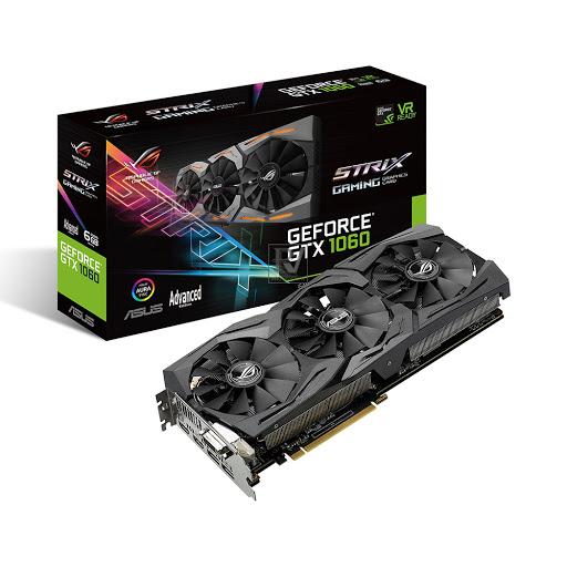 Card màn hình Asus Rog Strix GeForce GTX1060 A6G 6GB GDDR5 (STRIX-GTX1060-A6G-GAMING)
