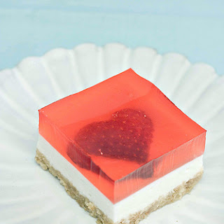 Strawberry Jelly Cheesecake – Strawberry Jelly Heart