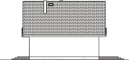 Domek Mały 004 BK V3 - Elewacja prawa