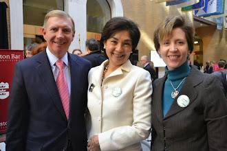 Photo: BBA President Paul Dacier, Justice Nan Duffly (SJC), and BBA President-Elect Julia Huston.