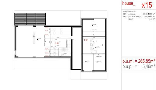 House X15 - Rzut poddasza