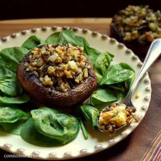 Happy Thanksgiving Walnut and Wild Rice Stuffed Portobellos.