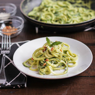 Zoodles with a Creamy Avocado Sauce